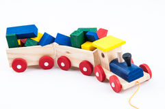 Stuk speelgoed trein stock foto