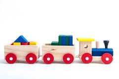 Stuk speelgoed trein Stock Afbeeldingen