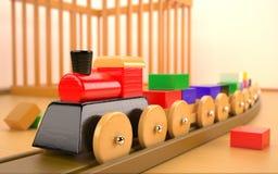 Stuk speelgoed trein Stock Fotografie