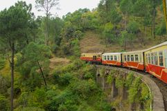 Stuk speelgoed trein Shimla royalty-vrije stock foto