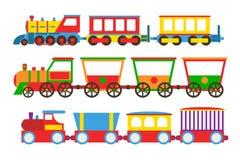 Stuk speelgoed trein vectorillustratie stock illustratie