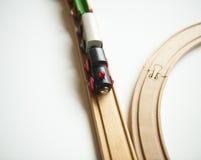 Stuk speelgoed treinen Stock Fotografie