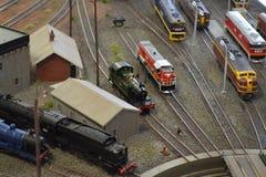 Stuk speelgoed treinen Stock Afbeeldingen