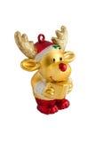 Stuk speelgoed van gouden rendier Stock Afbeelding