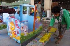 Stuk speelgoed voertuig Stock Afbeelding