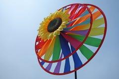 Stuk speelgoed windmolen Stock Fotografie