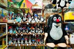 Stuk speelgoed winkel - mol Tsjechisch geanimeerd karakter Royalty-vrije Stock Afbeelding