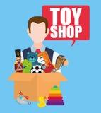 Stuk speelgoed winkelontwerp Royalty-vrije Stock Foto