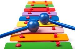 Stuk speelgoed xylofoon Royalty-vrije Stock Fotografie