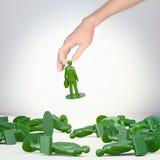 Stuk speelgoed zakenmancijfer Royalty-vrije Stock Fotografie