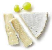 Stuk van Brie stock foto