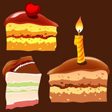 Stuk van Cake vector illustratie
