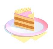 Stuk van cake Royalty-vrije Stock Foto's