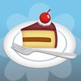 Stuk van Cake Stock Illustratie