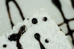 Stuk van cake Stock Afbeeldingen