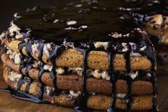 Stuk van cake stock foto's