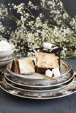 Stuk van cake Stock Foto
