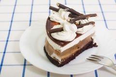 Stuk van cake: cake, appelgelei, stock afbeeldingen