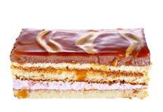 Stuk van cake met verschillende lagen Stock Foto's