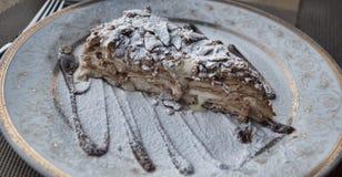 Stuk van cake napoleon Stock Afbeelding