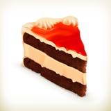 Stuk van cake vectorillustratie Stock Fotografie