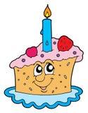 Stuk van cake vectorillustratie Royalty-vrije Stock Fotografie