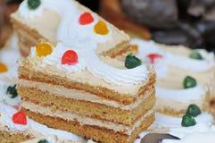 Stuk van cakeclose-up Stock Afbeelding