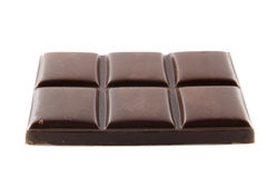 Stuk van chocolade stock afbeeldingen