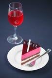 Stuk van Chocolade Berry Mousse Cake Royalty-vrije Stock Afbeelding