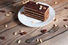 Stuk van chocoladecake Stock Afbeelding