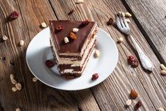 Stuk van chocoladecake Royalty-vrije Stock Foto