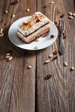Stuk van chocoladecake Stock Fotografie