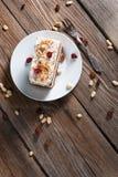 Stuk van chocoladecake Royalty-vrije Stock Afbeeldingen