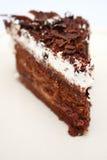 Stuk van de Cake van de Chocolade royalty-vrije stock afbeelding