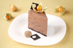 Stuk van de Cake van de Chocolademousse Stock Fotografie