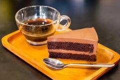 Stuk van de Cake van de Chocoladezachte toffee Royalty-vrije Stock Afbeeldingen