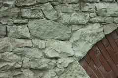 Stuk van de witte brug van het steenmetselwerk Royalty-vrije Stock Foto's