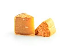 Stuk van Durian Monthong Mooncake  Royalty-vrije Stock Fotografie