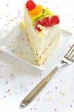 Stuk van heerlijke cake Stock Afbeelding