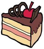 Stuk van heerlijke chocoladecake Royalty-vrije Stock Foto