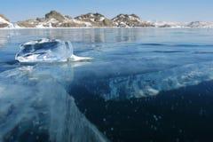 Stuk van ijs Stock Foto's