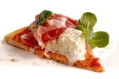 Stuk van Italiaanse pizza. Gezond voedsel. Royalty-vrije Stock Fotografie