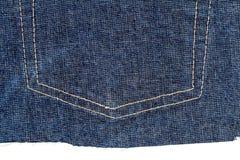 Stuk van jeansstof stock afbeelding