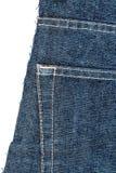 Stuk van jeansstof royalty-vrije stock foto