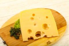 Stuk van kaas stock afbeelding