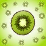 Stuk van kiwi Royalty-vrije Stock Afbeelding