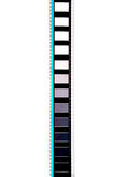 Stuk van 35 mm-motiefilm Stock Foto's