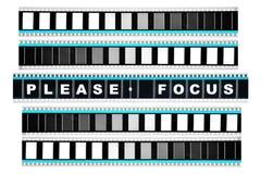 Stuk van 35 mm-motiefilm Stock Afbeelding