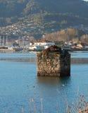 stuk van oud dok Galicië, Spanje stock afbeelding