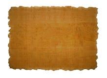 Stuk van papyrustextuur Stock Afbeeldingen